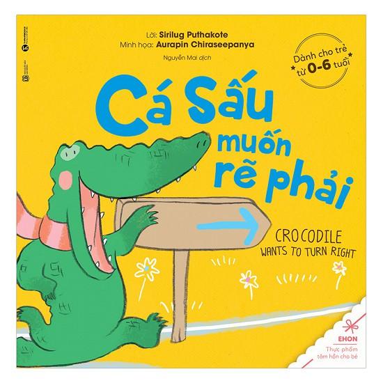 Sách - Ehon Cá Sấu Muốn Rẽ Phải