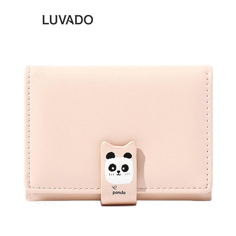 Ví nữ mini cute ngắn cao cấp TAOMICMIC nhỏ gọn nhiều ngăn thời trang LUVADO VD389