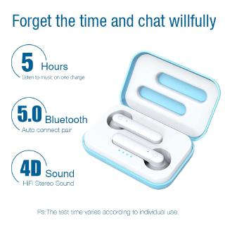 Tws Wireless Earphones Bluetooth 5.0 Headsets Worktime 4Hours Touch Earbuds Resolute Headphones Mic