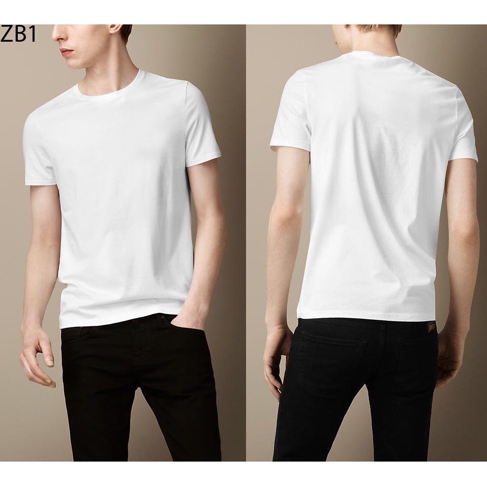 Combo 3 áo thun trơn nam thời trang Everest màu trắng đen xám