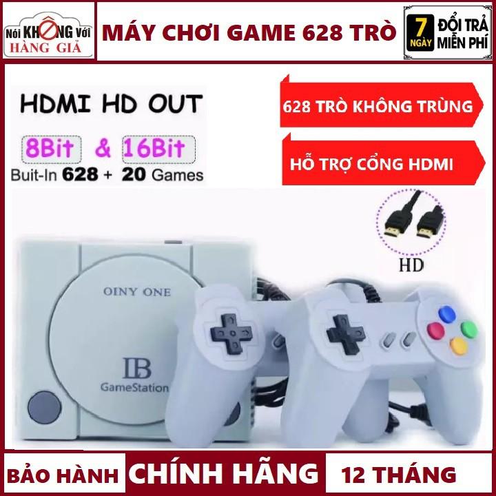 Kèm Cổng HDMI-Máy Chơi Game 4 Nút HDMI 628 trò Nes+20 trò Ps1 , Máy chơi game cầm tay-Bảo Hành 12 Tháng