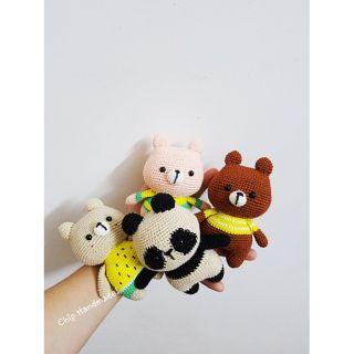 Gấu bông len mini handmade