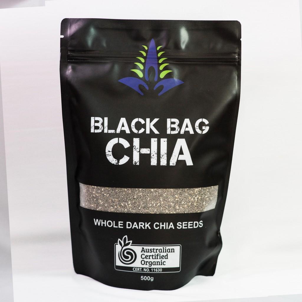 COMBO 2 BỊCH Hạt Chia đen Úc Loại 1- Black Bag 0.5kg
