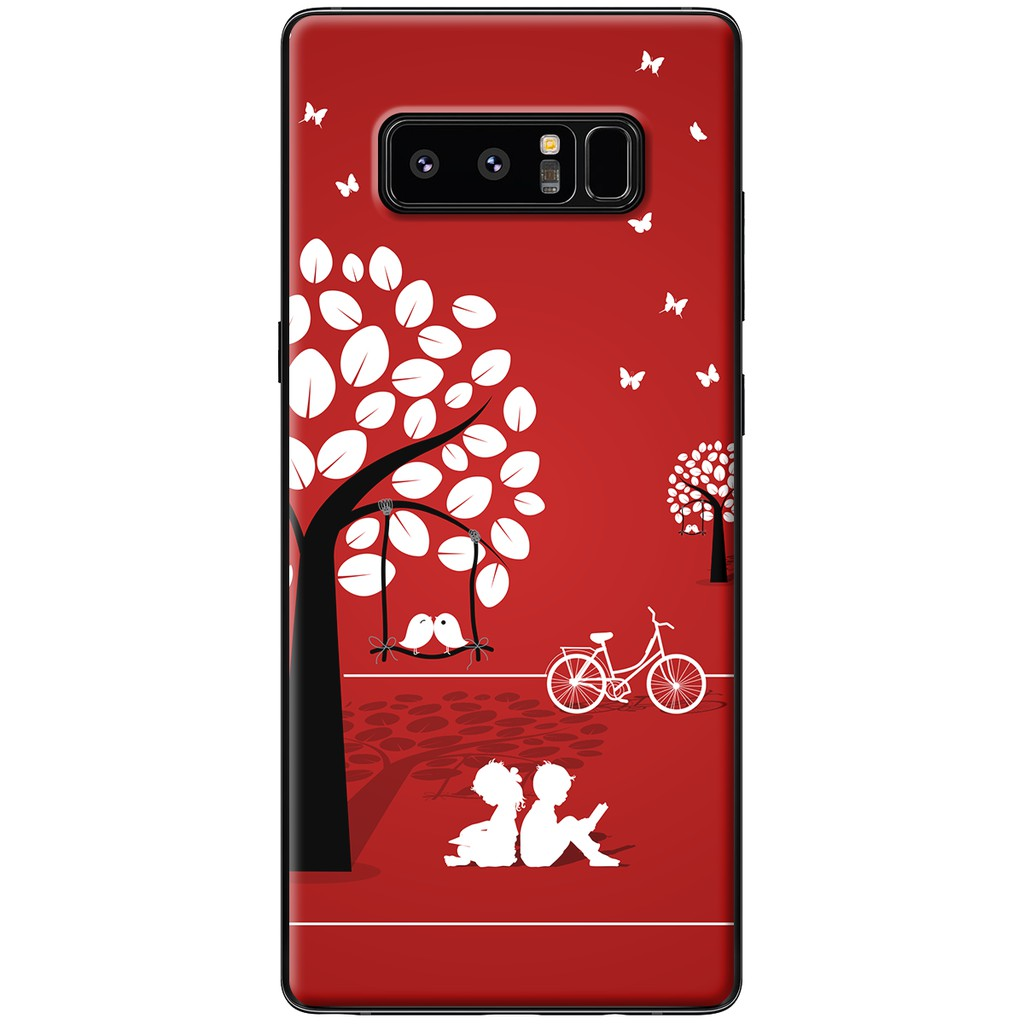 Ốp lưng Samsung Note 8 - Nhựa dẻo Ngồi dưới tán cây
