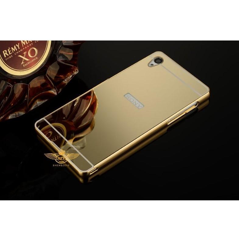 Ốp lưng Sony Xperia Z4 - Z3+ gương nguyên khối vàng