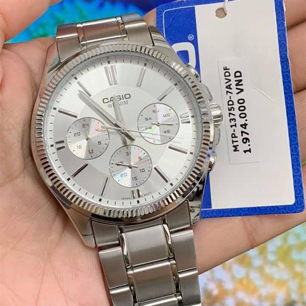 Đồng hồ nam dây kim loại Casio chính hãng Anh Khuê MTP-1375D-7AVDF