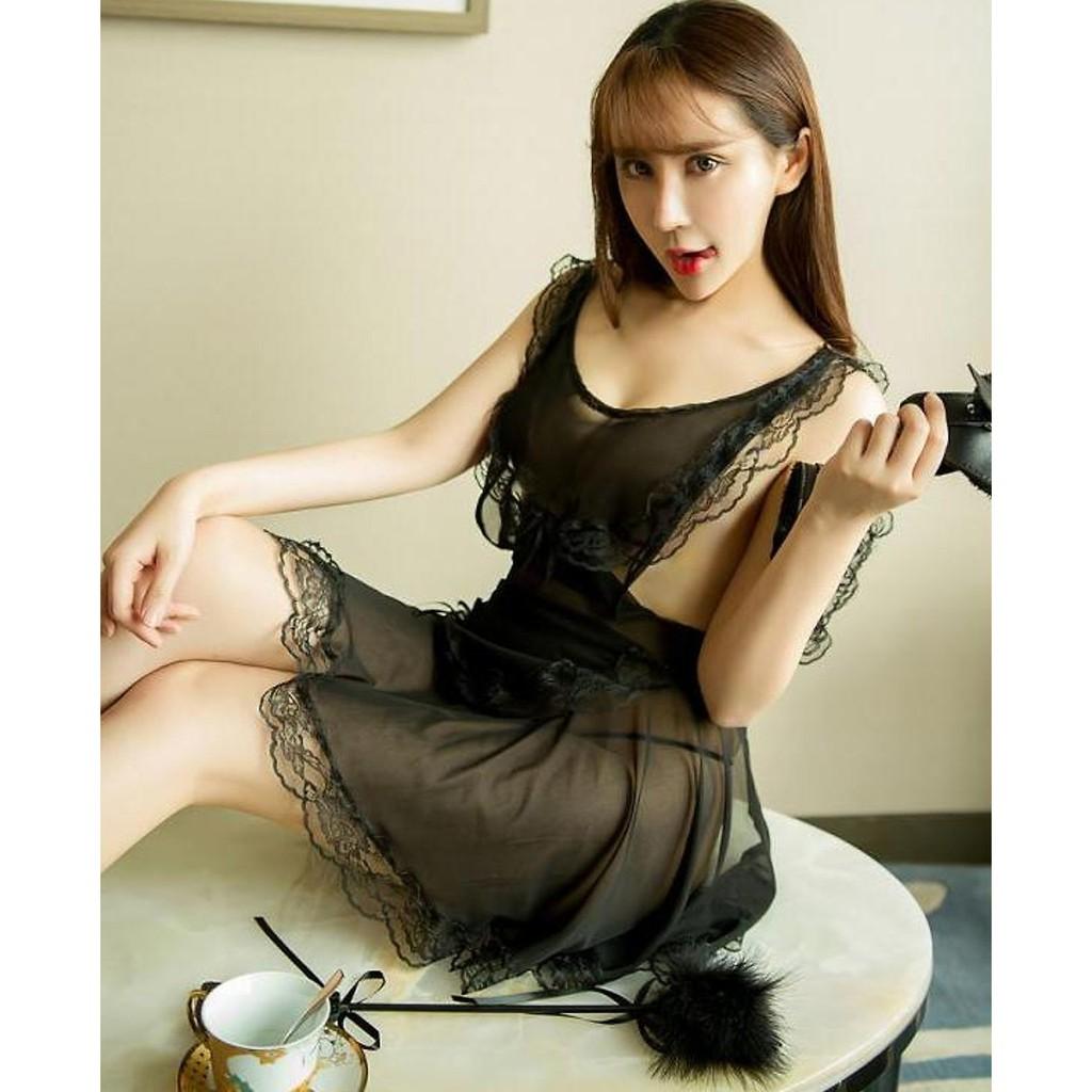 1901000929 - Bộ đầm ngủ váy ngủ cao cấp