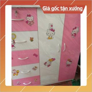 [Chỉ ship HN] Tủ quần áo trẻ em nhựa Đài Loan kích thước 125×105 Freeship