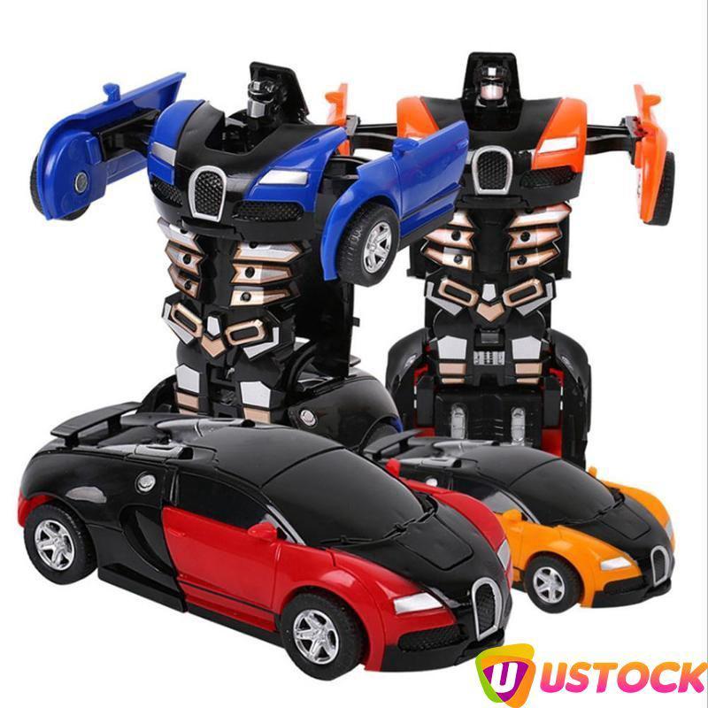 uv Mini Cartoon Deformation Car Inertial Transformation Robots Toys