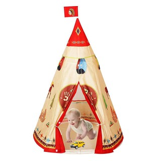 babifry Natural Indian Pattern Unisex Children Toy Tent Cloth Indoor Game Playhouse