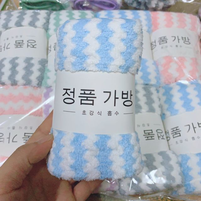 Khăn mặt lông cừu xuất Hàn
