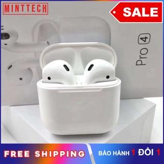 【COD】[SaleXả hàng] Tai nghe bluetooth không dây PRO4 MintTech, Bluetooth 5.0 âm thanh cực tốt Đàm thoại sắc nét, nhét tai thời trang cho iphone, android samsung, oppo, xiaomi, sony, vsmart tai nghe nhet tai âm thanh HD bass mạnh, pin trâu, pro 4 2020