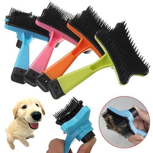 SUV_Pet Dog Cat Hair Fur Shedding Trimmer Grooming Rake Professional Comb Brush Tool