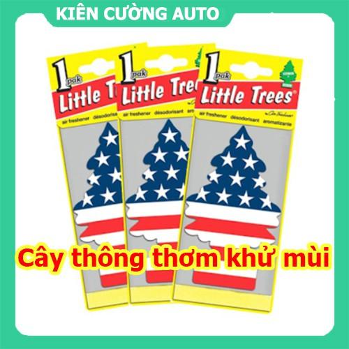Cây thông thơm little trees khử mùi ô tô, phòng ngủ, tủ quần áo - Hương vani