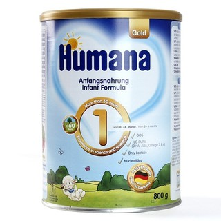 Sữa công thức Humana Gold số 1-800g Đức Nhập khẩu ( Cam Kết 100% Hàng Chính Hãng)