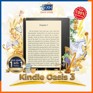 Máy đọc sách Kindle Oasis 3 – chính hãng Amazon – new 100%