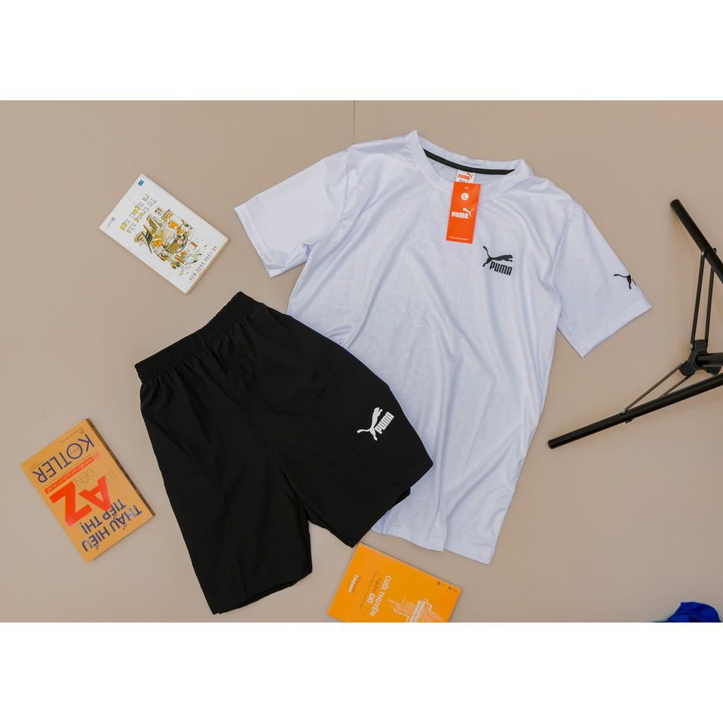 Bộ thể thao nam bộ đồ nam cổ tròn thun lạnh 6 màu 012