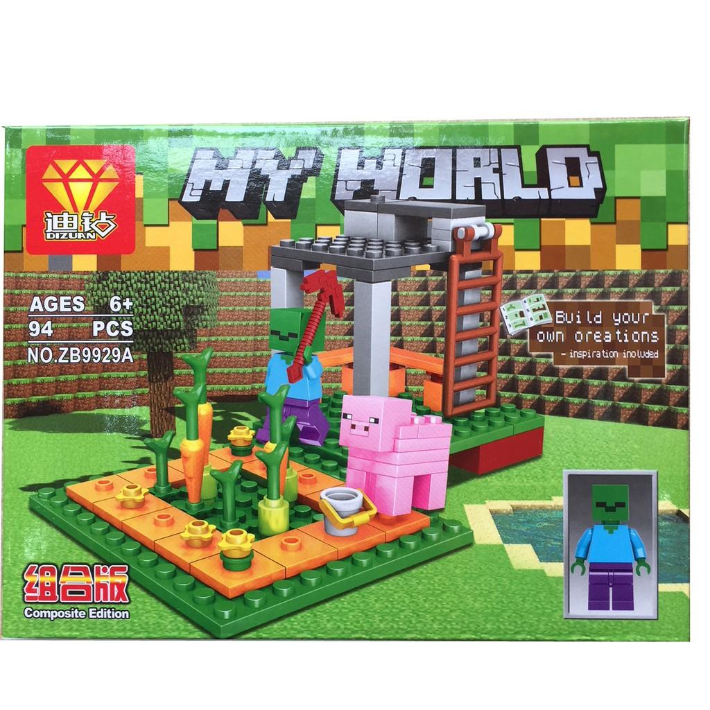 Bộ xếp hình lego My World MineCraft 57 pcs