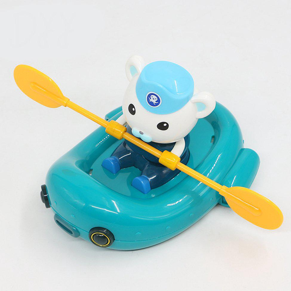 Creative Cartoon Rowing Boat Bathing Water Toy Baby Kids Educational Toy