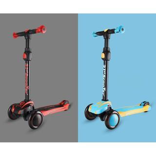 Xe trượt scooter có chức năng giảm xóc, bánh xe có đèn phát sáng cao cấp