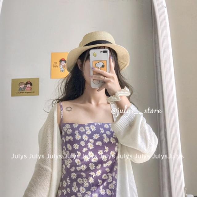 Váy hai dây hoa nhí tím (Ảnh THẬT kèm video)