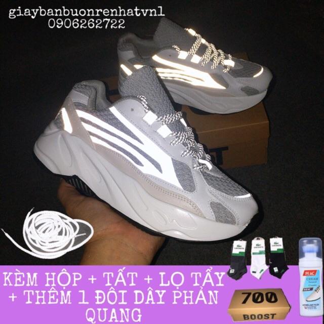 [ QUÀ TẶNG 100k dây phản quang ,hộp ,tất,lọ tẩy ]giày thể thao yz700 nam nữ