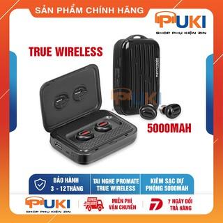 Tai Nghe Bluetooth Không Dây True Wireless Promate PowerBeat Với Dung Lượng Dock Sạc 5000mah