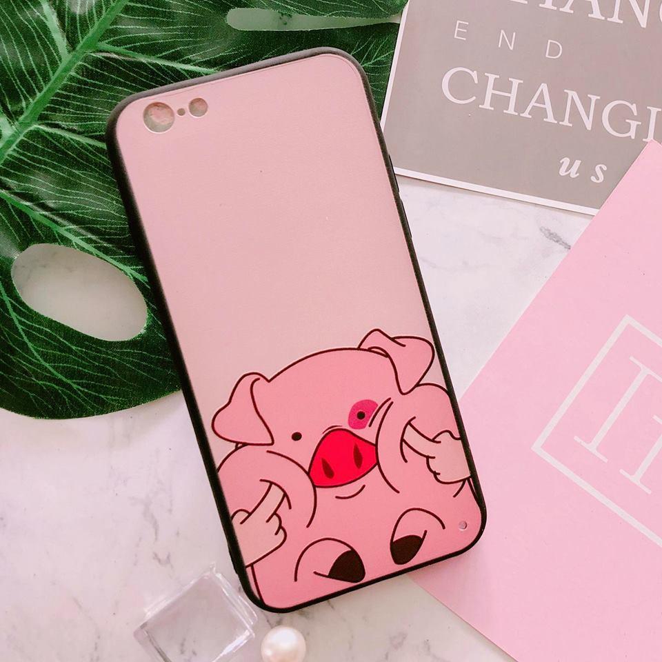 Ốp iPhone 6 / iPhone 6s < 4.7 > heo hồng cute