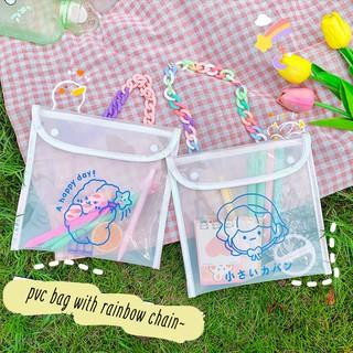 Túi Nhựa Mini Trong Cài Cúc Đựng Đồ Xinh, Tiện Lợi (Quai Xích Bán Rời)