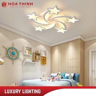 Đèn LED ốp trần ngôi sao 5 cánh , đèn mâm trần trang trí phòng khách, phòng ngủ, 3 chế độ ánh sáng