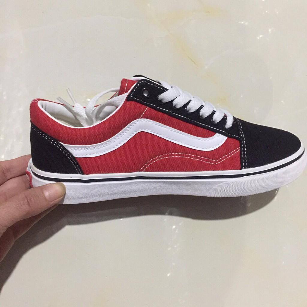 Giày thể thao Vans Old Skol đỏ phối đen 36-39