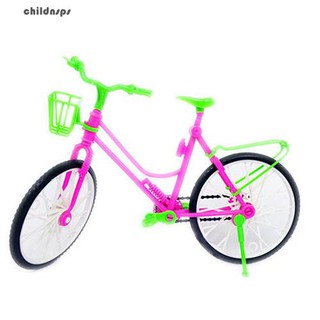 Modern Detachable Plastic Bike Bicycle Wheel for Multicolor Doll Toy Princess
