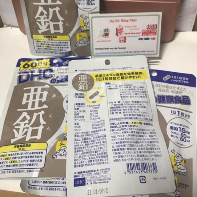 Viên uống bổ sung chất Kẽm DHC 60 ngày trị mụn, giúp tóc và xương chắc khoẻ - 3220506 , 578541425 , 322_578541425 , 160000 , Vien-uong-bo-sung-chat-Kem-DHC-60-ngay-tri-mun-giup-toc-va-xuong-chac-khoe-322_578541425 , shopee.vn , Viên uống bổ sung chất Kẽm DHC 60 ngày trị mụn, giúp tóc và xương chắc khoẻ