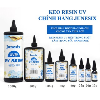 Keo Resin UV Loại Cao Cấp Chính Hãng Junesix