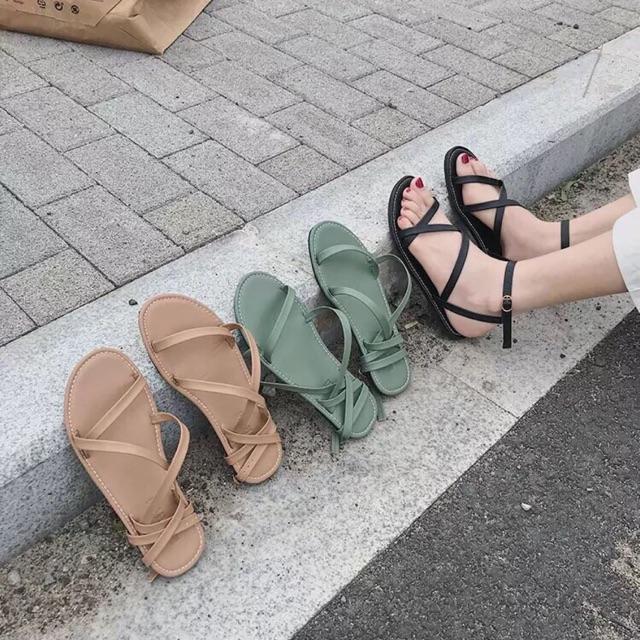 Sandal dây đan chéo mới Z