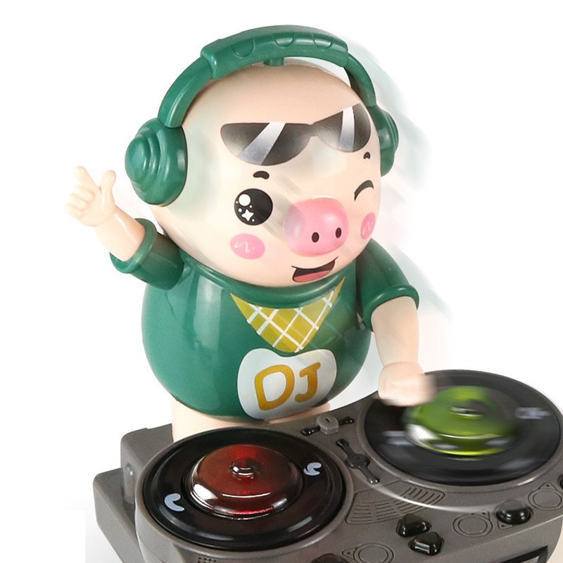 (Sẵn nowship HCM) Chú heo chơi DJ năng động siêu dễ thương nhảy theo nhạc và đèn cho bé