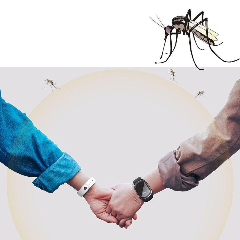 Vòng Đeo Tay Đuổi Muỗi Bằng Sóng Siêu Âm Sạc Usb Tiện Dụng