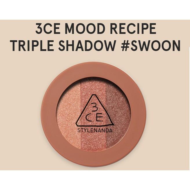 SALE 40% - Phấn Mắt Nhũ 3 Màu 3CE Mood Recipe Triple Shadow Swoon Color - 2468647 , 692835632 , 322_692835632 , 320000 , SALE-40Phan-Tram-Phan-Mat-Nhu-3-Mau-3CE-Mood-Recipe-Triple-Shadow-Swoon-Color-322_692835632 , shopee.vn , SALE 40% - Phấn Mắt Nhũ 3 Màu 3CE Mood Recipe Triple Shadow Swoon Color