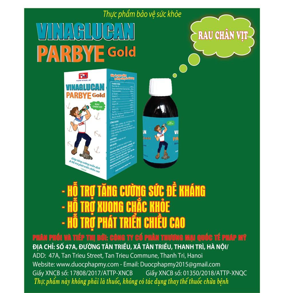 Tăng cường miễn dịch và phát triển chiều cao: VINAGLUCAN PARBYE GOLD