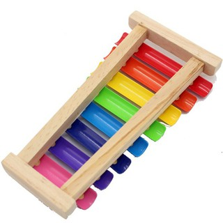 Đàn gõ 8 thanh bằng gỗ – Đồ chơi âm nhạc, Nhạc cụ, đồ chơi gỗ, đồ chơi thông minh [VPPLS]