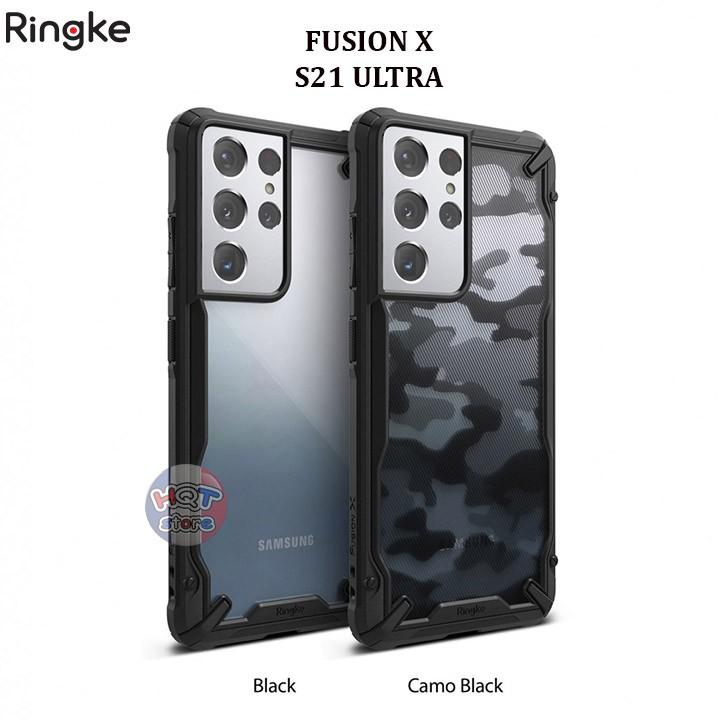 Ốp lưng chống sốc Ringke Fusion X Samsung S21 Ultra chính hãng - Hàng nhập khẩu