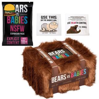 Card Game Bear VS Babies Kittens Board Card Game Playing Cards Toys