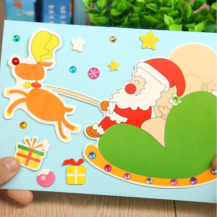 Đồ chơi thủ công / Montessori - Bộ kit làm thiệp handmade DIY nhân dịp Giáng sinh, sinh nhật, thiệp...