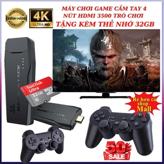 Tặng thẻ 32GB Xịn Máy chơi game cầm tay 4 nút HDMI 3500 trò chơi cổ điển PS1 Nitendo switch FC Compact FC BH 24 Tháng thumbnail