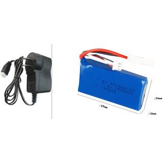 Combo Pin sạc Lipo 7.4v 1500mah cano Ft009