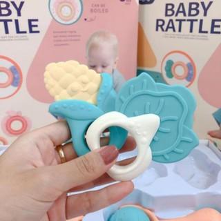 Bộ 10 Xúc xắc gặm nướu BabyRattle an toàn cho bé
