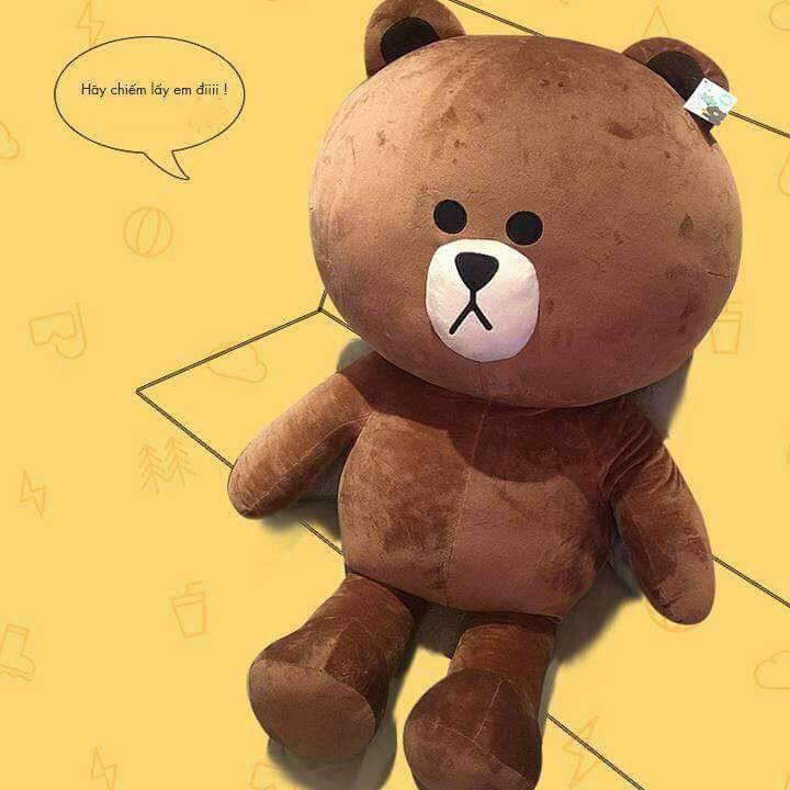 [ GIẢM GIÁ ] Gấu bông Brown cao cấp khổ vải 70 cao 50 _ Gấu Teddy Xinh