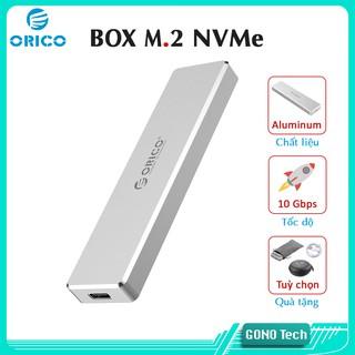 Box SSD M2 NVME Orico PVM2 PCM2-C3 | Chuyển M.2 PCIe to USB 3.1 Type-C | Hộp đựng ổ cứng di động vỏ nhôm cao cấp
