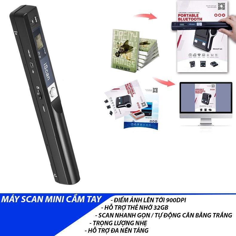 iScan 900DPI Thiết bị Scan ảnh Tài liệu Mini cầm tay di động siêu nhanh – Xuất File JPG hoặc PDF Giá chỉ 1.600.000₫