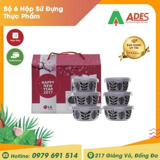 Bộ 6 Hộp Sứ Đựng Thực Phẩm Cao Cấp Donghwa B1505VLS6